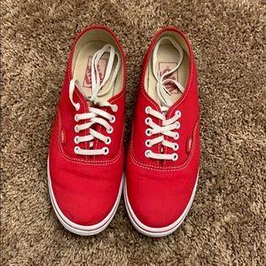 Red Vans Lo Pro